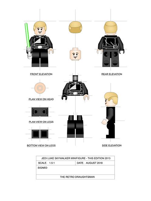 Jedi Luke Skywalker - Minifigure - Art Print