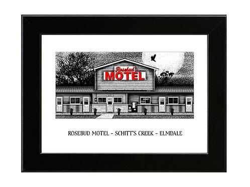 Rosebud Motel - Schitts Creek - Framed Art Print