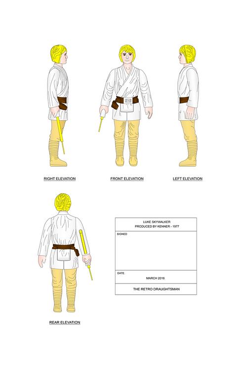 1977 Luke Skywalker (Farmboy Luke) - Art Print