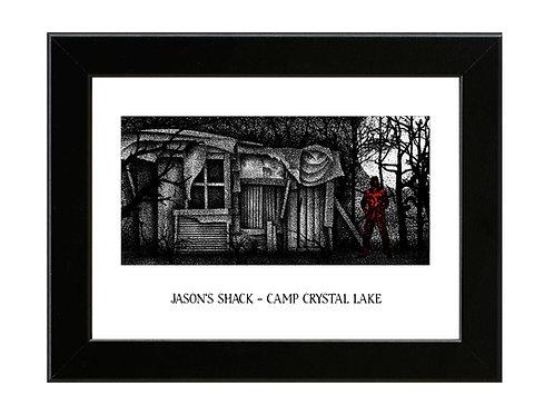 Friday the 13th Part 2 - Jasons Shack - Framed Art Print