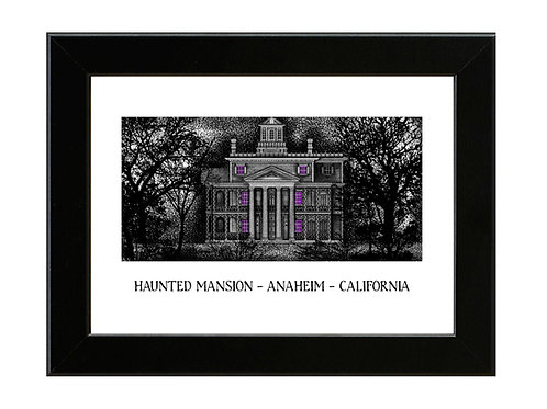 The Haunted Mansion - Framed Art Print