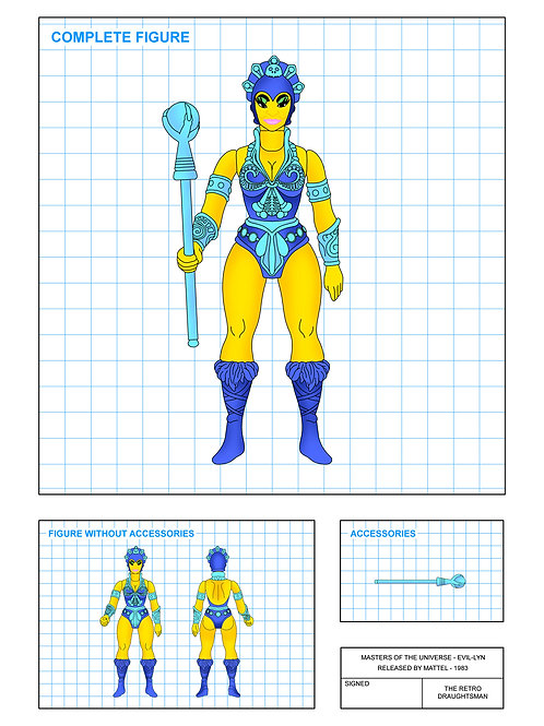 Masters of the Universe - Evil-Lyn - Art Print
