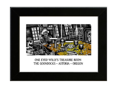 One Eyed Willy's - Goonies - Framed Art Print