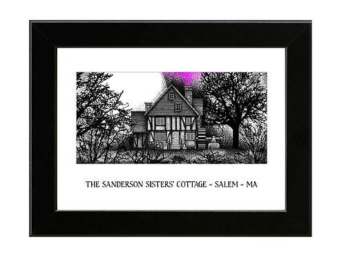 Sanderson Sisters Cottage - Hocus Pocus - Framed Art Print