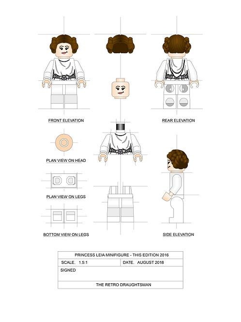 Princess Leia - Minifigure - Art Print