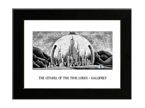CITADEL OF THE TIME LORDS - DR WHO - Framed Art Print