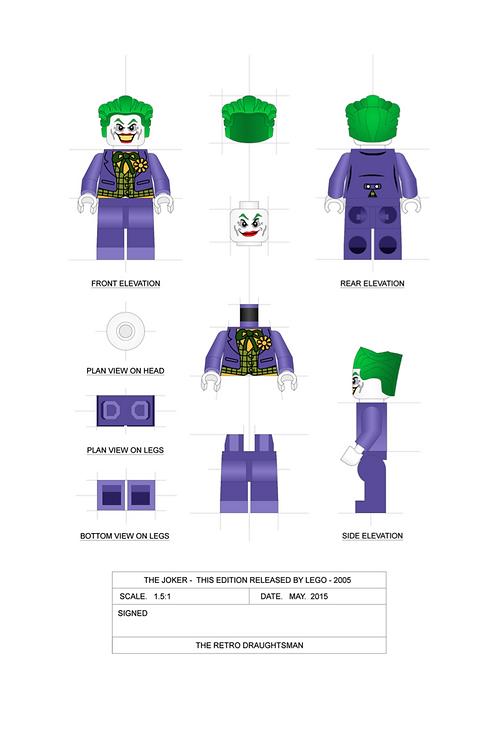 Joker - Minifigure - 1.5:1 Scale Art Print