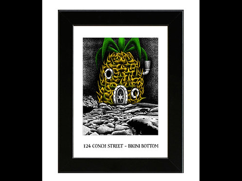 Spongebob Squarepants House - Framed Art Print