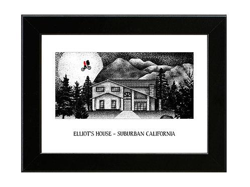 Elliot's House - E.T. - Framed Art Print