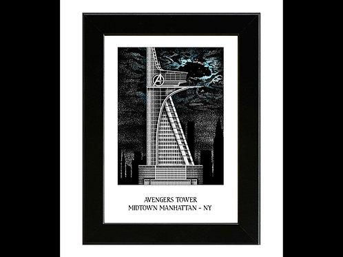 Avengers Tower - Framed Art Print