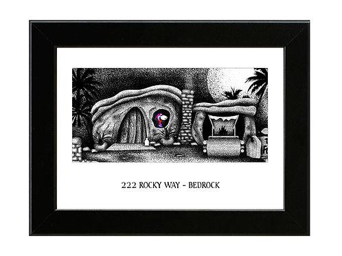 The Flintstones House - Framed Art Print