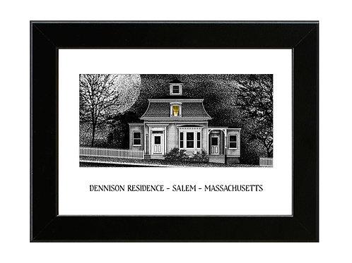 Dennison Residence - Hocus Pocus - Framed Art Print