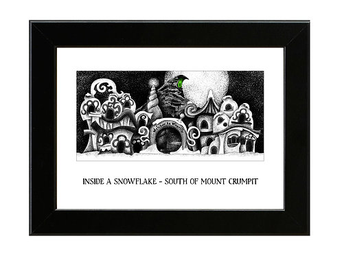 Whoville - The Grinch - Framed Art Print