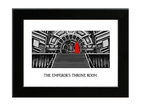 The Emperors Throne Room - Framed Art Print
