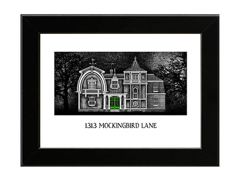 Munsters - 1313 Mockingbird Lane - Framed Art Print