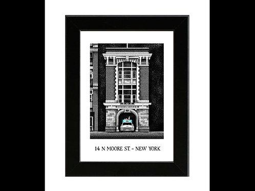 Ghostbusters Firehouse - Framed Art Print