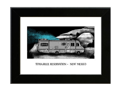 Tohajiilee Reservation - Breaking Bad- Framed Art Print