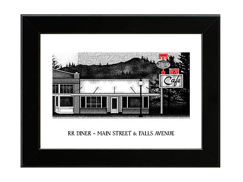 Twin Peaks - RR Diner - Framed Art Print