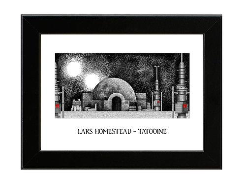 Lars Homestead - Star Wars - Framed Art Print