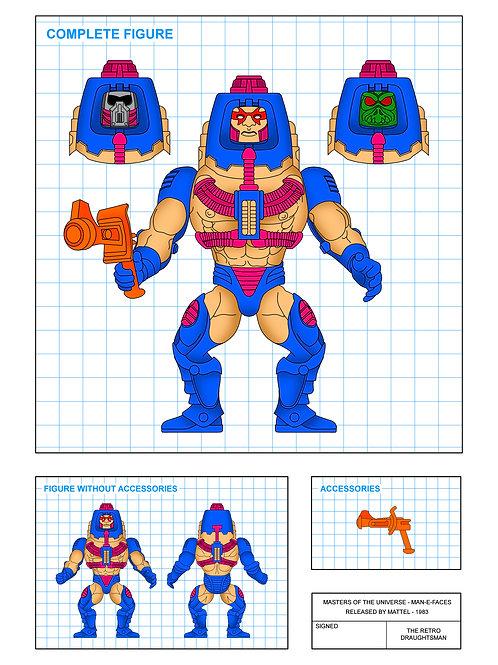 Masters of the Universe - Man-E-Faces - Art Print