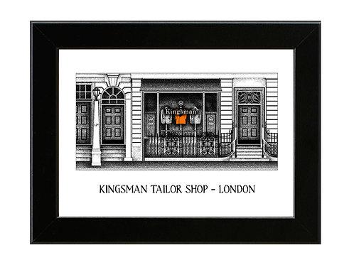 Kingsman Tailor Shop - Framed Art Print