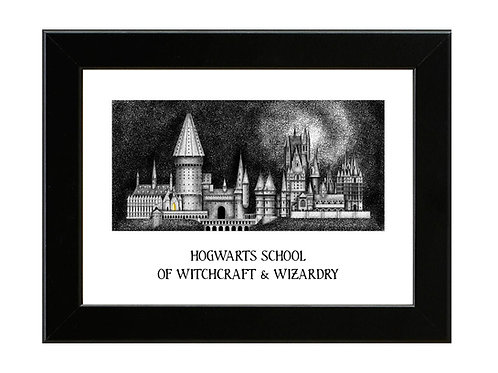 Hogwarts School of Witchcraft and Wizardry - Framed Art Print