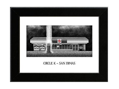 Bill and Ted - Circle K - Framed Art Print