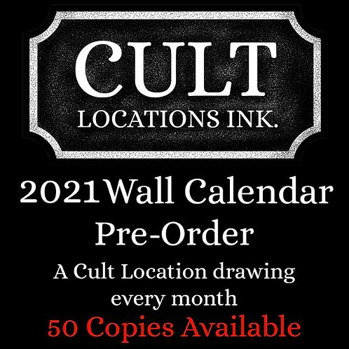 CULT LOCATIONS - 2021 Wall Calendar - Pre-Order