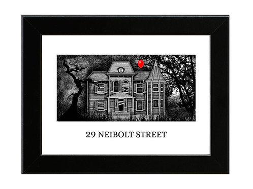 29 Neibolt Street - Stephen Kings IT - Framed Art Print