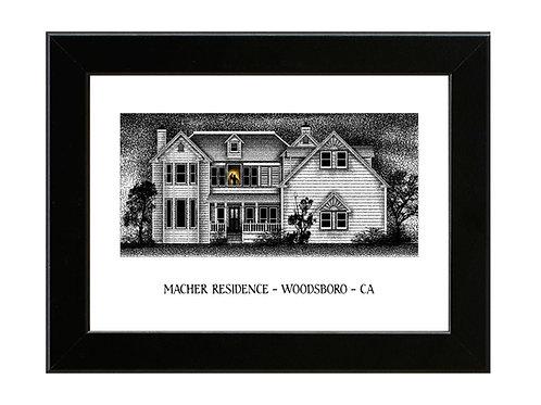 Stu Machers House - Scream - Framed Art Print
