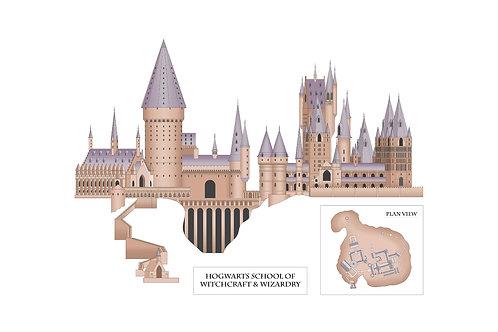 Hogwarts School - Art Print