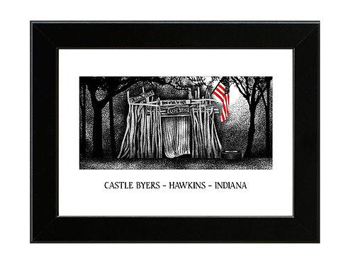 Stranger Things - Castle Byers - Framed Art Print