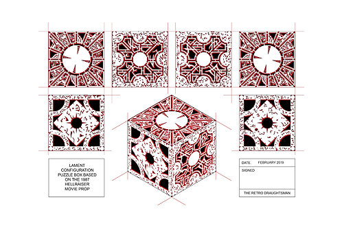 Hellraiser - Lament Configuration Puzzle Box - Art Print