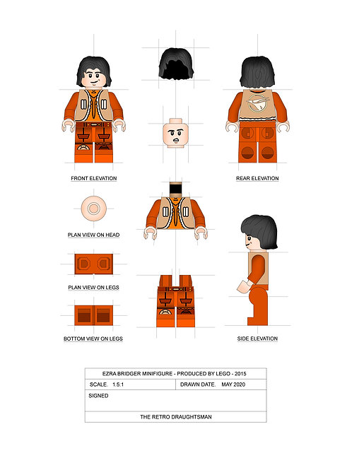 Ezra Bridger - Minifigure - Art Print