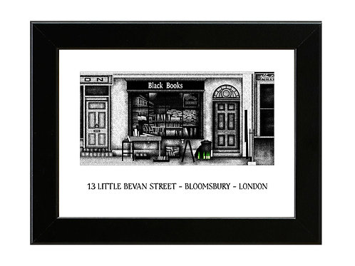 Black Books  - Framed Art Print