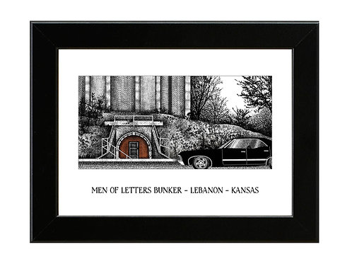 Men of Letters Bunker - Supernatural - Framed Art Print