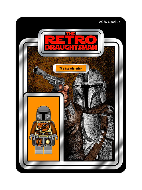 Limited Signed Mandalorian Print (Minifigure Variant) ONLY 25 AVAILA