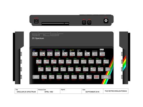 Sinclair ZX-Spectrum - Technical Art Print