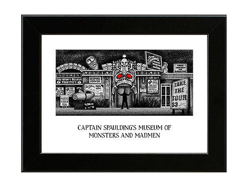 Captain Spaulding's Musuem of Monsters and Madmen - Framed Art Print