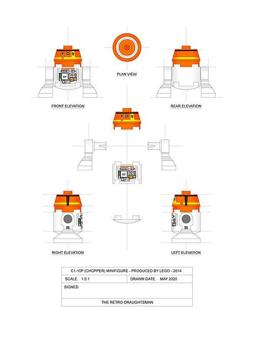 CHOPPER - Minifigure - Art Print