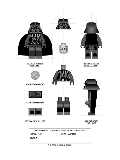 Darth Vader - Minifigure - Art Print