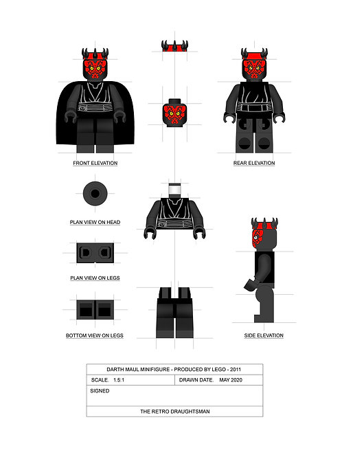 Darth Maul - Minifigure - Art Print
