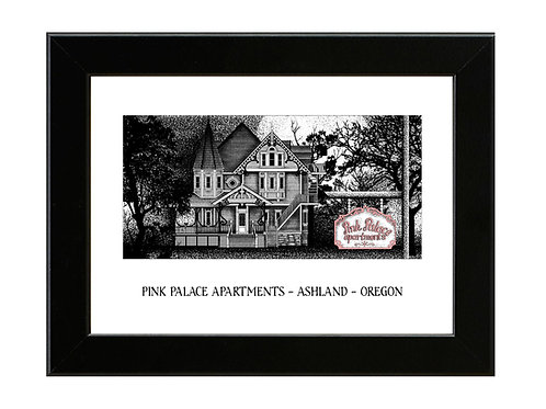 Pink Palace Apartments - Coraline - Framed Art Print
