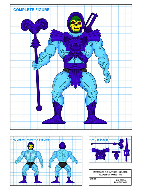 Masters of the Universe - Skeletor - Art Print