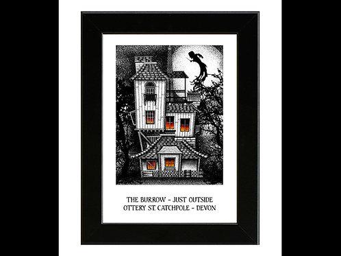 Harry Potter - The Burrows (Weasley Family Home) - Framed Art Print