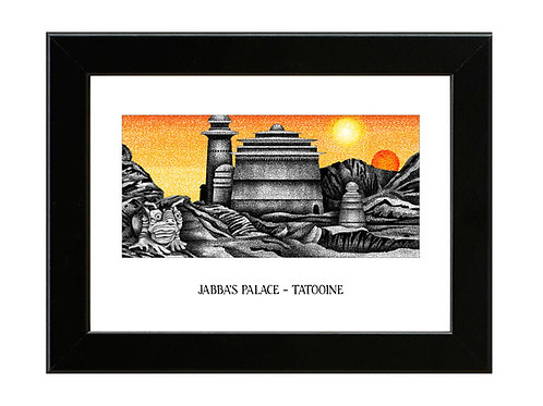 Jabba's Palace - Star Wars - Framed Art Print