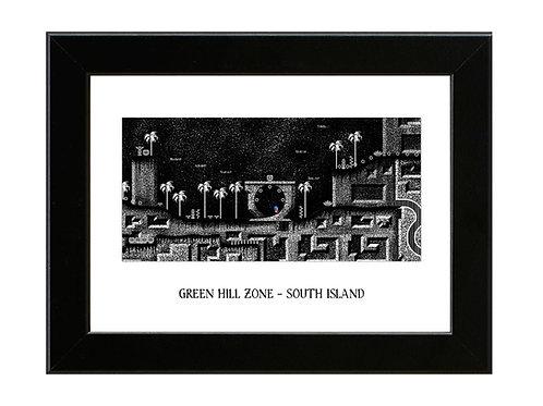 Green Hill Zone - Sonic the Hedgehog - Framed Art Print