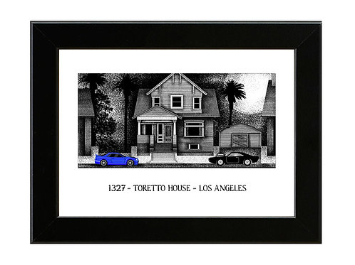 1327 - Toretto House - Fast and Furious  - Framed Art Print