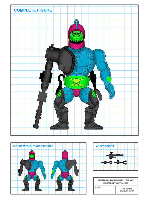 Masters of the Universe - Trap Jaw - Art Print
