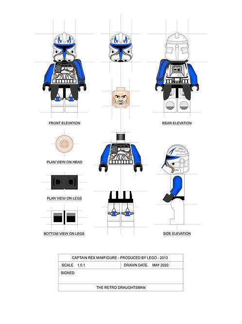 Captain Rex - Minifigure - Art Print